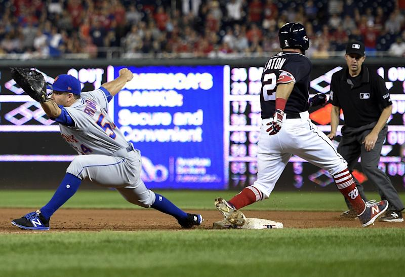 Adam Eaton was crushing the ball before injuring himself on Friday. (AP Photo/Nick Wass)
