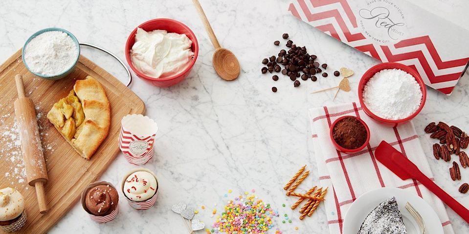 """<p><strong>Red Velvet NYC</strong></p><p>redvelvetnyc.com</p><p><strong>$49.00</strong></p><p><a href=""""https://redvelvetnyc.com/products/subscription"""" rel=""""nofollow noopener"""" target=""""_blank"""" data-ylk=""""slk:Shop Now"""" class=""""link rapid-noclick-resp"""">Shop Now</a></p><p>This gift is both thoughtful and delicious. Each month, the gift recipient will be able to try their hand at new, seasonal gourmet desserts, with all the recipe's ingredients and instructions delivered straight to their door. </p><p><strong>Cost:</strong> $49 per month</p>"""