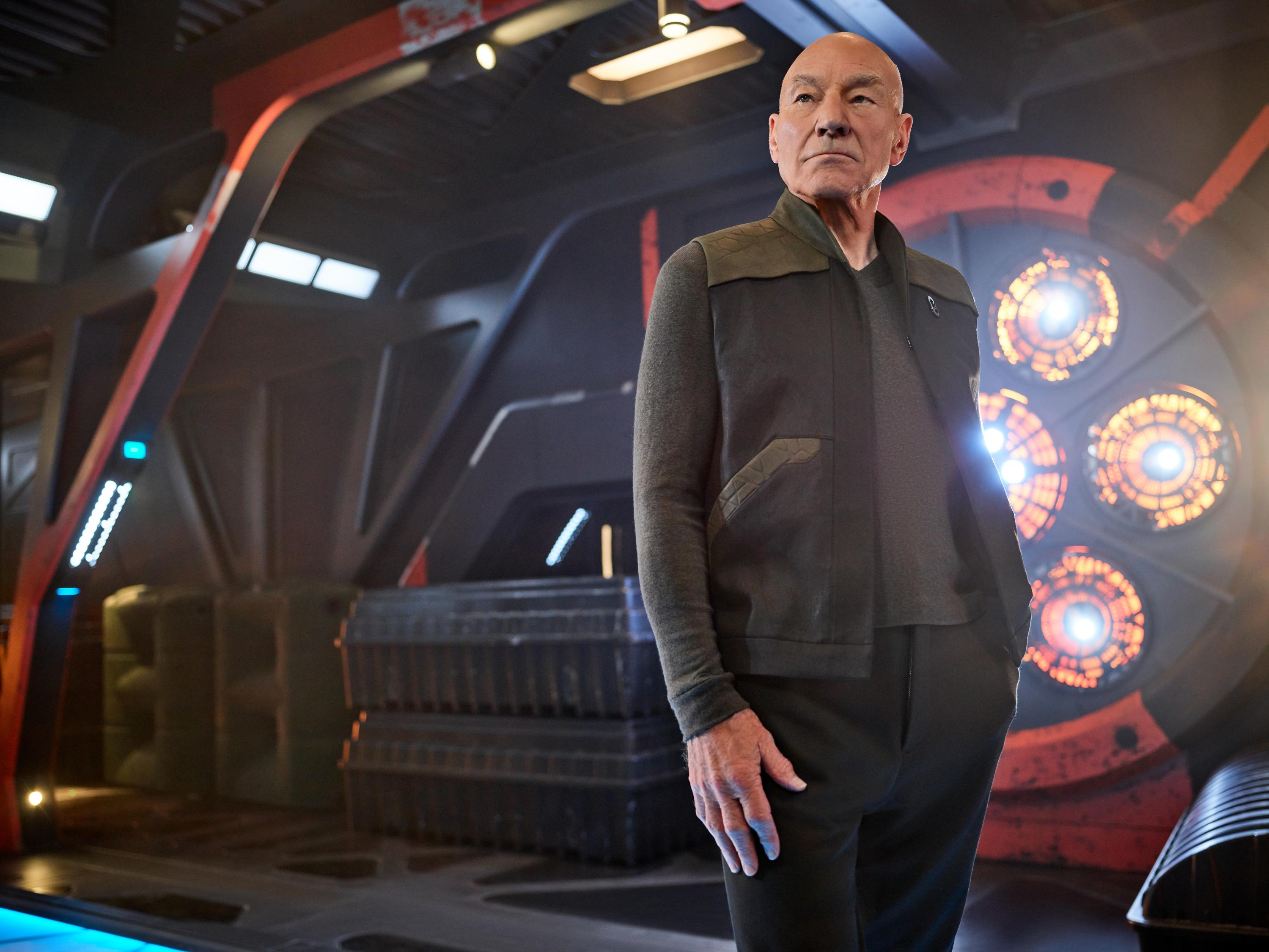 Pictured: Sir Patrick Stewart as Jean-Luc Picard of the CBS All Access series STAR TREK: PICARD. (Photo Cr: James Dimmock/CBS ©2019 CBS Interactive, Inc. All Rights Reserved.)