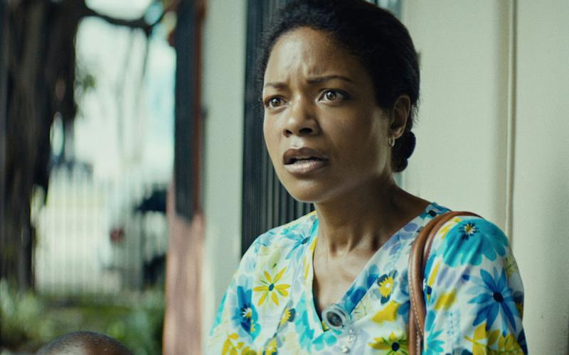 Naomie Harris in the first act of 'Moonlight' as Paula, the mother of 10-year-old Chiron (Credit: Altitude)