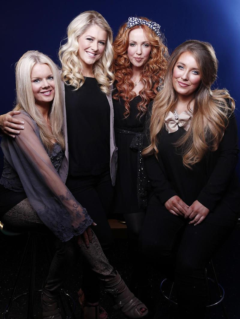Members of the Irish folk group Celtic Woman, from left, Máiréad Nesbitt, Susan McFadden, Lisa Lambe and Chloë Agnew pose for a portrait in New York on Thursday, March 15, 2012. Celtic Woman, an all-female musical ensemble, will be performing at Oakdale Theatre in Wallingford, Conn., on St. Patrick's Day. (AP Photo/Carlo Allegri)