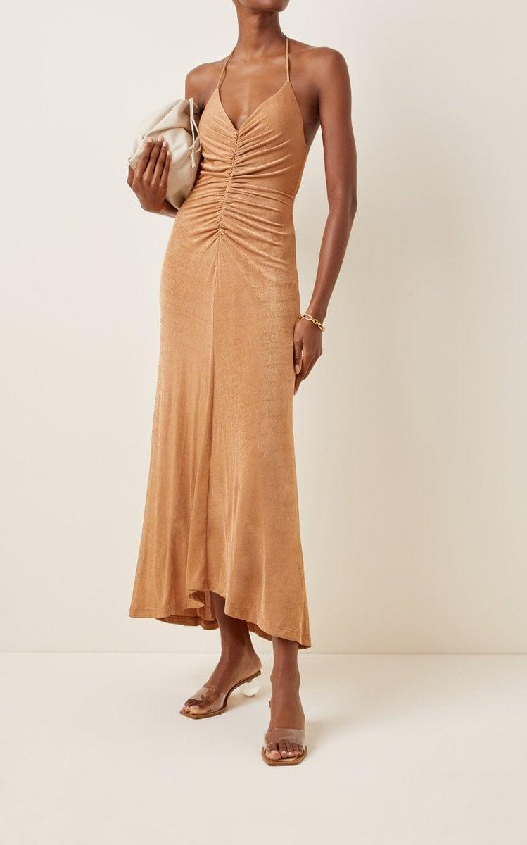 <p>This <span>Significant Other Giselle Ruched Jersey Dress</span> ($180) is so sexy.</p>