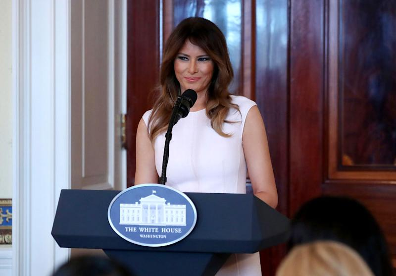 Melania Trump uses Clinton china for state dinner