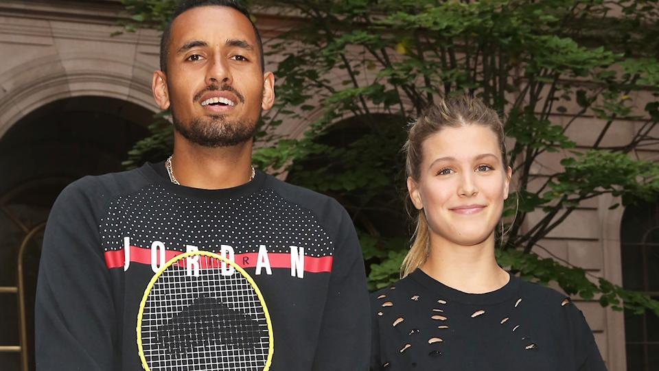 Eugenie Bouchard and Nick Kyrgios, pictured here at an event in 2017.