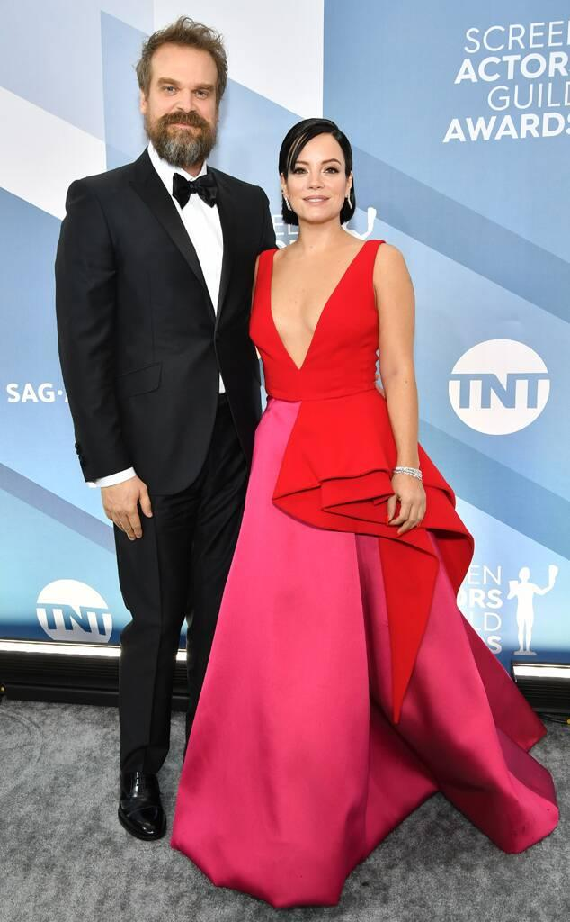 David Harbour, Lily Allen, 2020 Screen Actors Guild Awards, SAG Awards, Couples