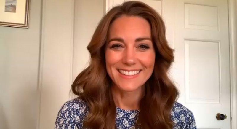 Kate Middleton wore an M&S dress for a virtual meeting back in June, and the design is now on sale. (Getty Images)