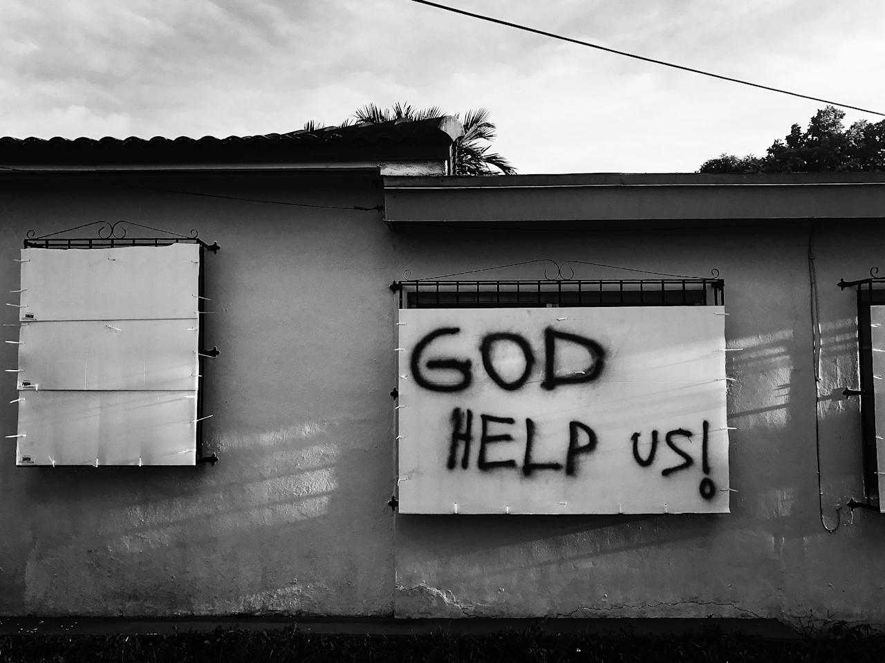 <p>A boarded-up home Friday in Miami ahead of the expected arrival Hurricane Irma. (Photo: Holly Bailey/Yahoo News) </p>