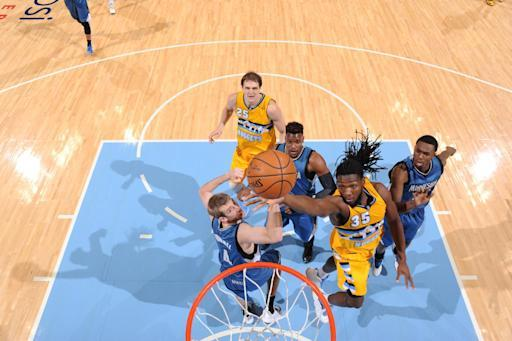 Faried grabs 25 rebounds as Denver beats Minnesota 106-102