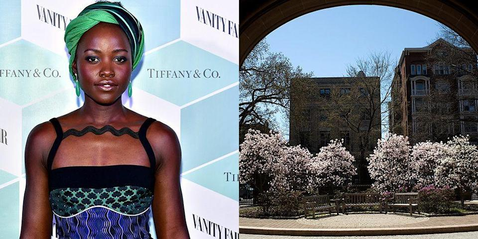 <p><strong>Yale University</strong></p><p>After graduating from the prestigious Yale School of Drama, Lupita Nyong'o snagged her first major role in <em>12 Years a Slave</em>, which earned her an Oscar for Best Supporting Actress.  </p>