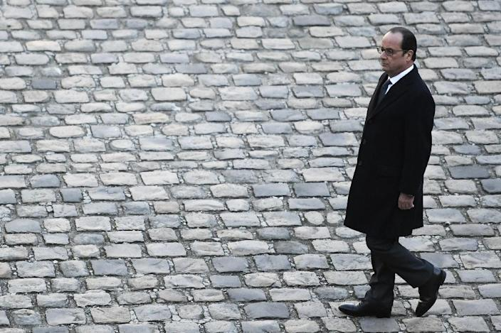 According to a new poll taken November 29, 2016 French President Francois Hollande, seen in November 2016, would win just 7 percent of votes in the first round of next year's election in April if he ran (AFP Photo/STEPHANE DE SAKUTIN)