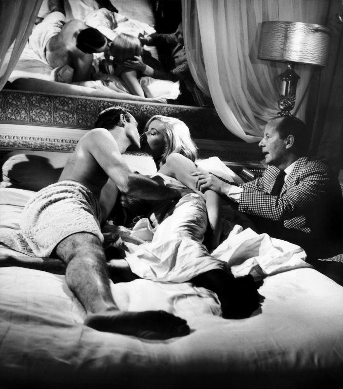 <p>Director Terence Young directs Sean Connery and Daniela Bianchi on the set of 'From Russia With Love', 1963. </p>