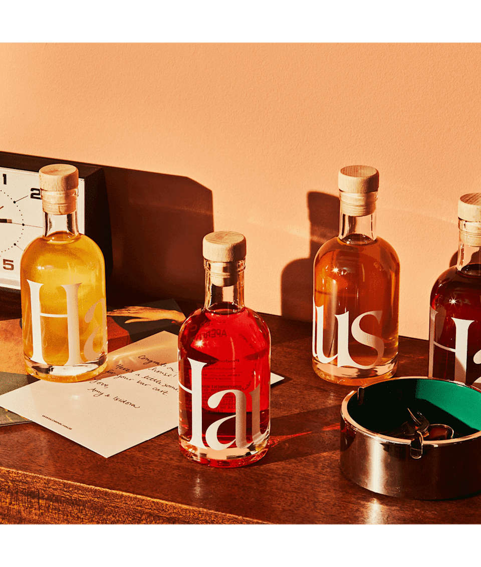 <p>Haus gives aperitifs a modern and trendy twist. You can either drink it as a spirit with a splash of a hard liquor of your choice, as a spritzer with a dash of seltzer or your favorite sparkling wine, or by itself. Try out <span>Haus The Sampler Kit</span> ($40 for four) featuring flavors like citrus flower, lemon lavender, rose rosé, bitter clove, ginger yuzu, spiced cherry, and grapefruit jalapeño.</p>