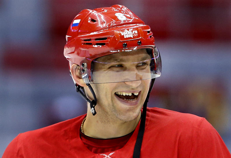 Ovechkin arrives in Russia to lead hockey hopes