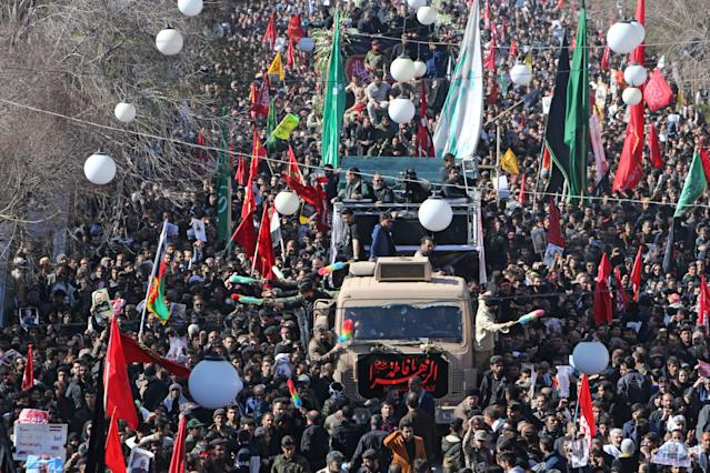 Multitudinario entierro en Irán de Soleimani (Photo by ATTA KENARE / AFP) (Photo by ATTA KENARE/AFP via Getty Images)
