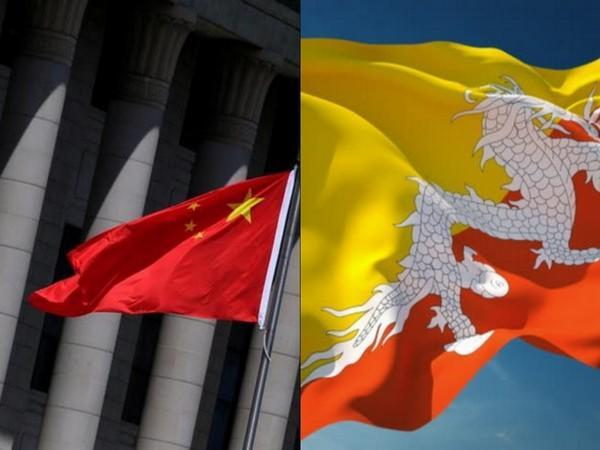Chinese and Bhutanese flags