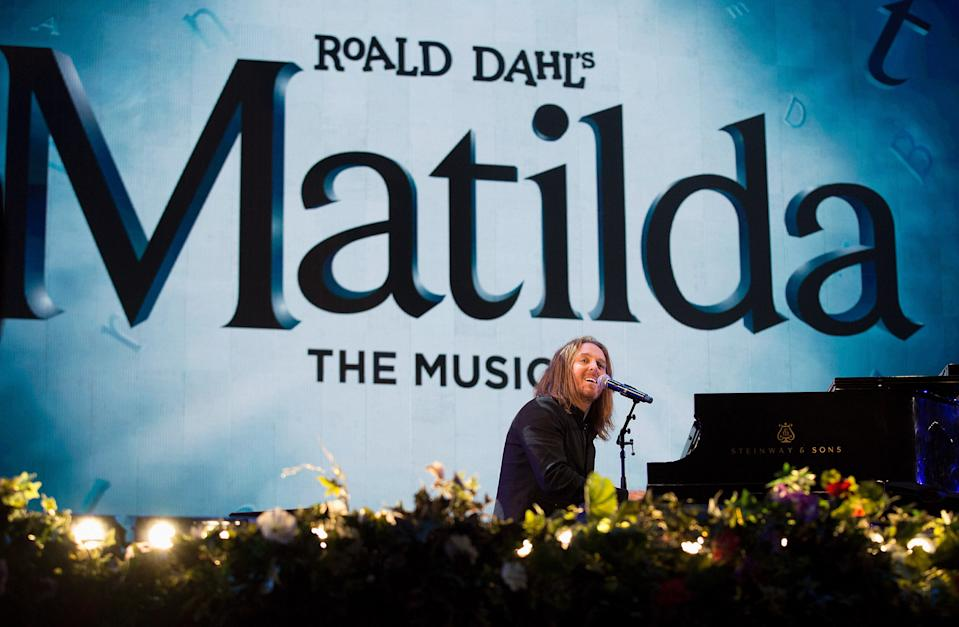 Tim Minchin and The Cast of Matilda perform on stage at the BBC Proms in the Park on September 10, 2016. (Photo by Jo Hale/Redferns)