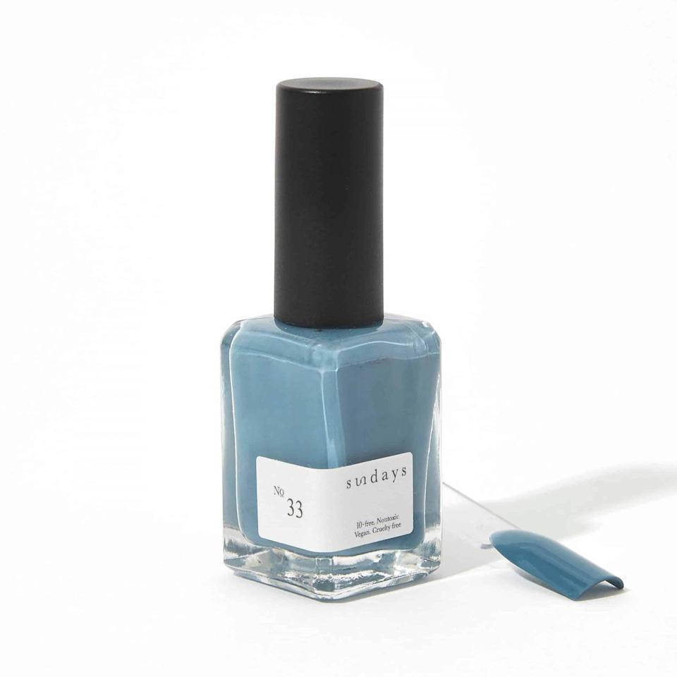 """<p>While everyone is working hard, you'll be dreaming of the next endeavor and thinking of the personal goals that you want to bring into reality. A muted teal nail polish will allow your visions to take flight, as it will ignite and inspire your imagination over the next few weeks.</p> <p><strong>To shop: </strong>$18; <a href=""""https://dearsundays.com/product/nail-polish/colors/no-33/"""" rel=""""sponsored noopener"""" target=""""_blank"""" data-ylk=""""slk:dearsundays.com"""" class=""""link rapid-noclick-resp"""">dearsundays.com</a></p>"""