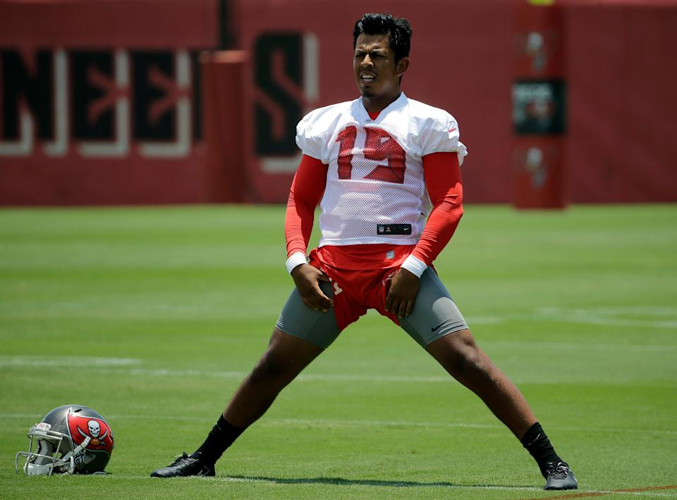 Thank goodness we ripped the Tampa Bay Buccaneers three years ago for using a second-round pick on kicker Roberto Aguayo. (AP Photo)