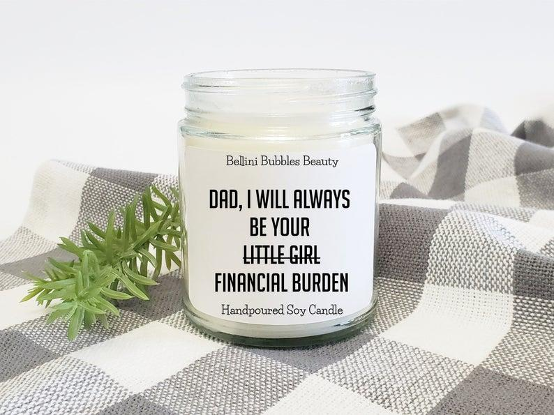 Funny Candle. Image via Etsy.