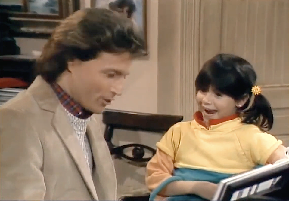 Andy Gibb and Soleil Moon Frye on 'Punky Brewster' in 1985. (Photo: NBC)