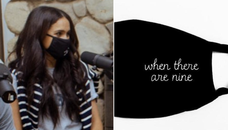 The Duchess of Sussex, Meghan Markle, wore both a T-shirt and face mask that paid tribute to Ruth Bader Ginsburg.