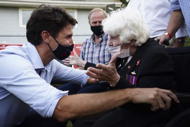 Liberal Leader Justin Trudeau is promising the provinces cash to hire more doctors, having already promised $9 billion for long-term care.  (Sean Kilpatrick/Canadian Press - image credit)