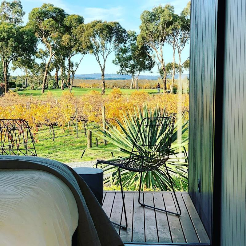 The Vineyard Retreat combines a working vineyard with luxury boutique accommodation. Photo: Instagram/thevineyardretreat.