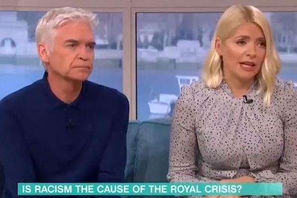 The presenters were discussing the royal fall-out over the Sussexes shock announcement (This Morning)
