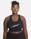 """<p><strong>Nike</strong></p><p>nike.com</p><p><strong>$40.00</strong></p><p><a href=""""https://go.redirectingat.com?id=74968X1596630&url=https%3A%2F%2Fwww.nike.com%2Ft%2Fswoosh-icon-clash-womens-medium-support-non-padded-graphic-sports-bra-plus-size-6rh1zZ&sref=https%3A%2F%2Fwww.harpersbazaar.com%2Ffashion%2Ftrends%2Fg35960511%2Fplus-size-summer-outfit-ideas%2F"""" rel=""""nofollow noopener"""" target=""""_blank"""" data-ylk=""""slk:Shop Now"""" class=""""link rapid-noclick-resp"""">Shop Now</a></p>"""