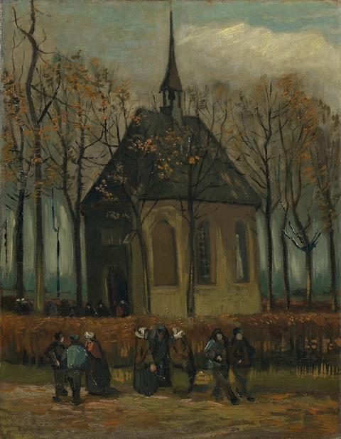 Congregation Leaving the Reformed Church in Nuenen (January-February 1884 and autumn 1885), by Vincent Van Gogh - Credit: Van Gogh Museum, Amsterdam (Vincent van Gogh Foundation)