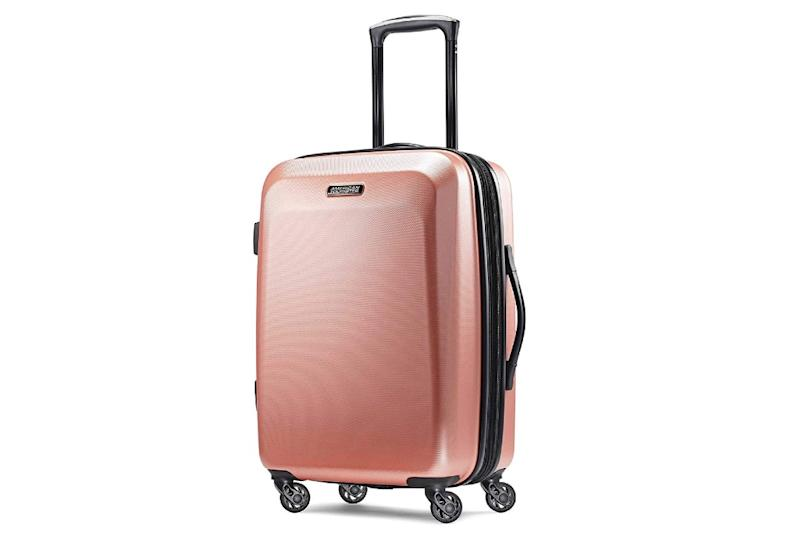 American Tourister Moonlight Hardside Luggage with Spinner Wheels. (Photo: Amazon)