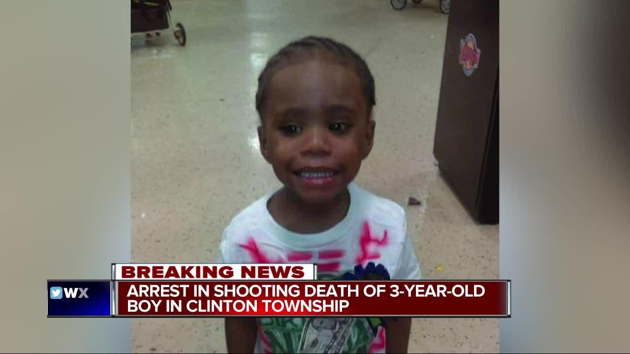 Arrest in shooting death of 3-year-old boy in Clinton Township