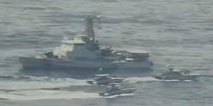 Iranian Islamic Revolutionary Guard Corps Navy (IRGCN) vessels conducted unsafe and unprofessional actions against U.S. Military ships by crossing the ships' bows and sterns at close range while operating in international waters of the North Arabian Gulf