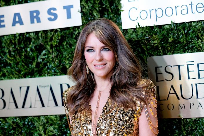 Elizabeth Hurley attends the Lincoln Center Corporate Fashion Gala honoring Leonard A. Lauder at Alice Tully Hall on November 18, 2019 in New York City. (Photo by Dimitrios Kambouris/Getty Images for Lincoln Center)