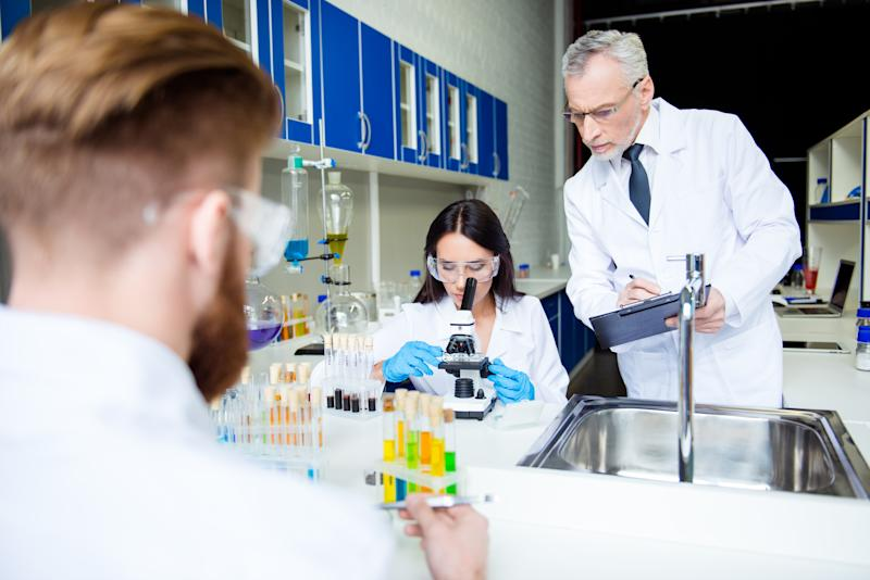 Scientists in a lab.
