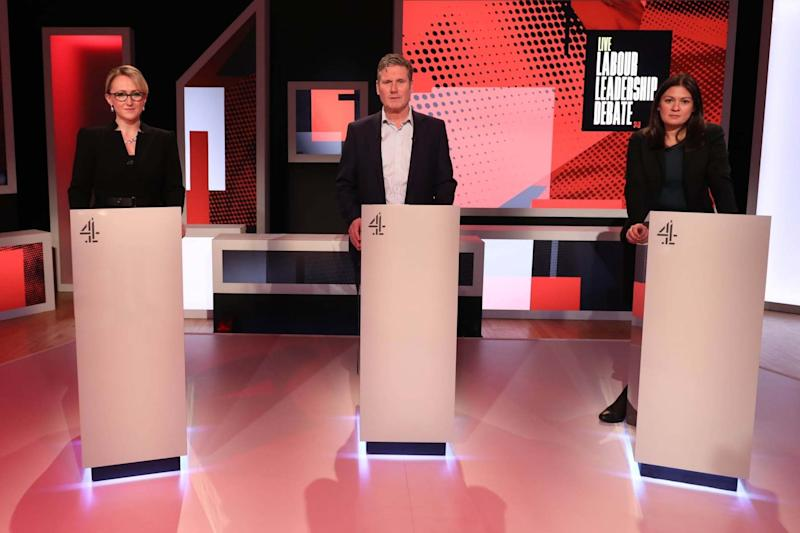 The trio were asked a series of questions from both host Krishnan Guru-Murthy and the audience (Tim Anderson/Channel 4)