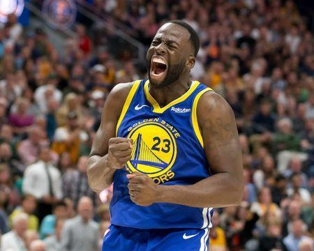 FILE PHOTO: Oct 19, 2018; Salt Lake City, UT, USA; Golden State Warriors forward Draymond Green (23) reacts after being called for a foul during the second half against the Utah Jazz at Vivint Smart Home Arena. Mandatory Credit: Russ Isabella-USA TODAY Sports/File Photo