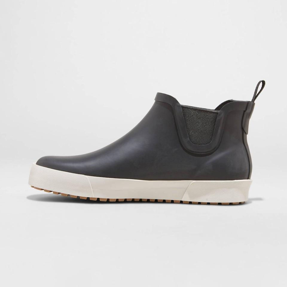 <p>These <span>Universal Thread Shirley Rain Boots</span> ($30) will be your best friends on rainy days, and they are designed to feel super-comfortable. We especially like the contrasting color and stretchy fabric.</p>