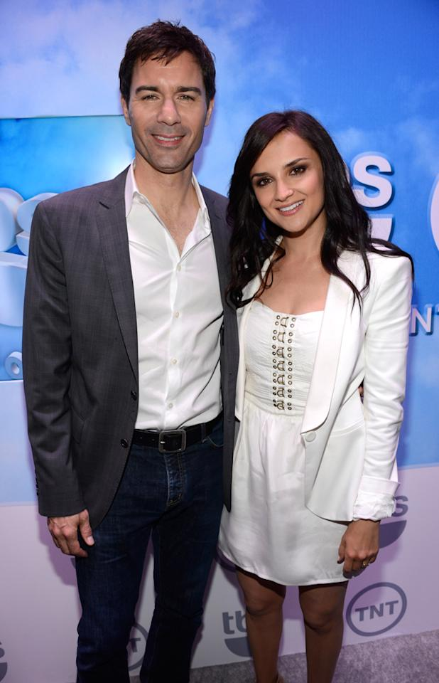 """Eric McCormack and Rachel Leigh Cook (""""Perception"""") attend the TNT/TBS 2012 Upfront Presentation at Hammerstein Ballroom on May 16, 2012 in New York City."""