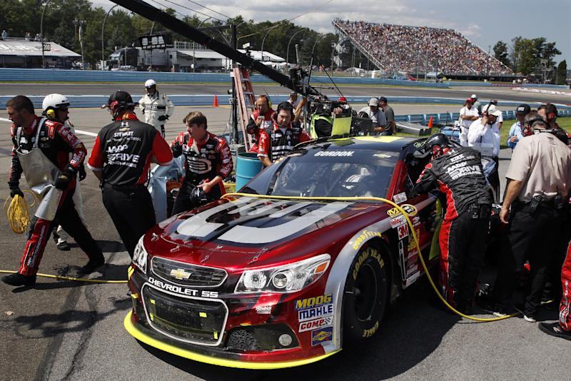Newman and McDowell crash hard at The Glen