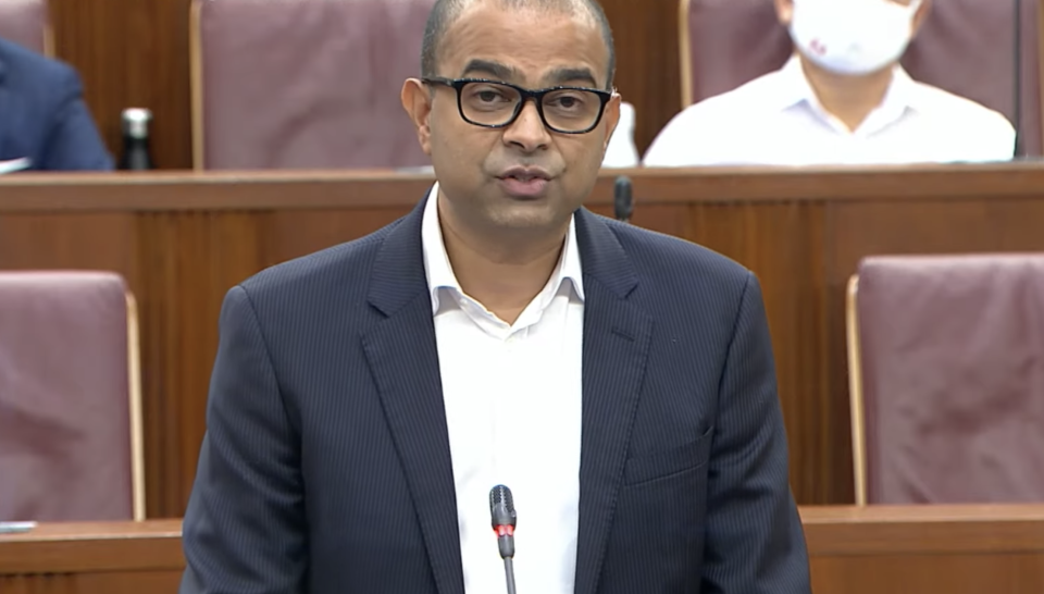 Senior Minister of State for Transport and Health Janil Puthucheary addresses Parliament on Monday, 1 February 2021. (PHOTO: Screengrab from Ministry of Communications and Information YouTube channel)