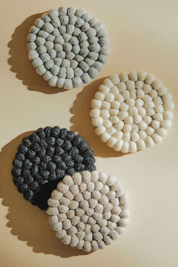Heartfelt by Anthropologie Felted Wool Coasters, Set of 4 on sale for Black Friday.