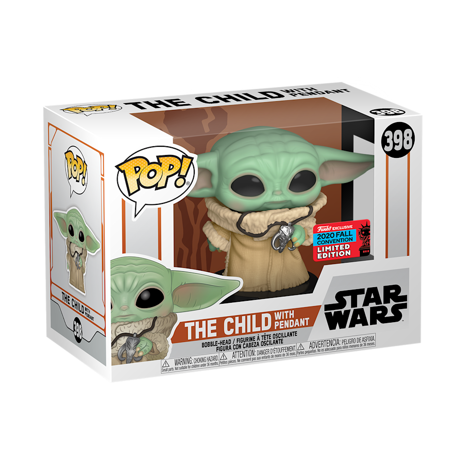 The limited-edition Child With Pendant Funko Pop in packaging (Photo: Funko)