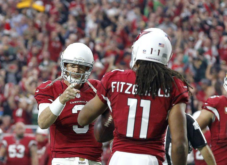 Carson Palmer and Larry Fitzgerald will try to lead the Cardinals back to the playoffs. (AP)