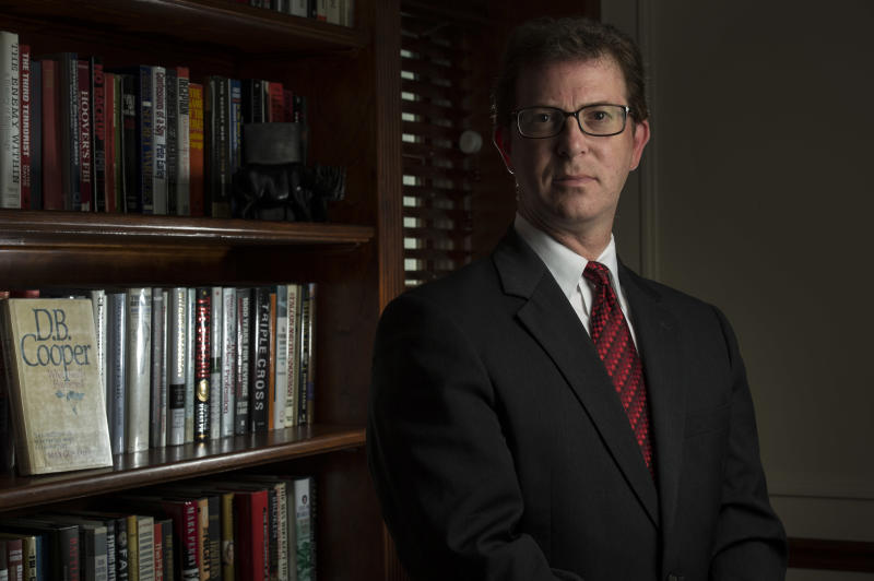 UNSPECIFIED - JULY 20: National security lawyer Mark Zaid is photographed at his home in the metro Washington, DC area, on Wednesday, July 20, 2016. The infamous hijacking case with D.B. Cooper, the subject of a History Channel documentary, which aired recently, has put the limelight on Robert Rackstraw, an alleged suspect with whom Zaid negotiated to turn himself in. (Photo by Nikki Kahn/The Washington Post via Getty Images)