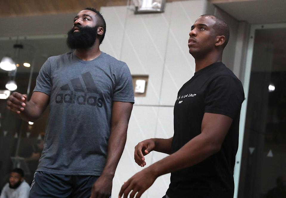 James Harden and Chris Paul worked out together this offseason. (Getty Images)