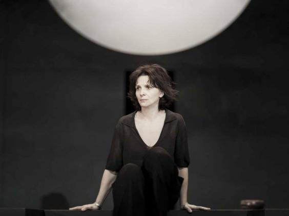 Juliette Binoche as Antigone at the Barbican (EPA)