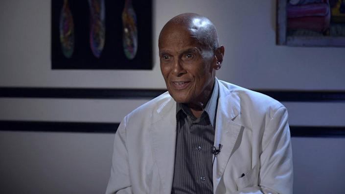 Belafonte is interviewed about guest hosting 'The Tonight Show' in the new documentary 'The Sit-In' (Photo: Big Beach/Peacock)