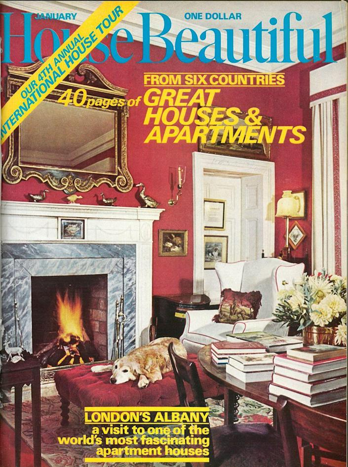 <p>This dog looks right at home in the famous Albany apartments in London. </p>