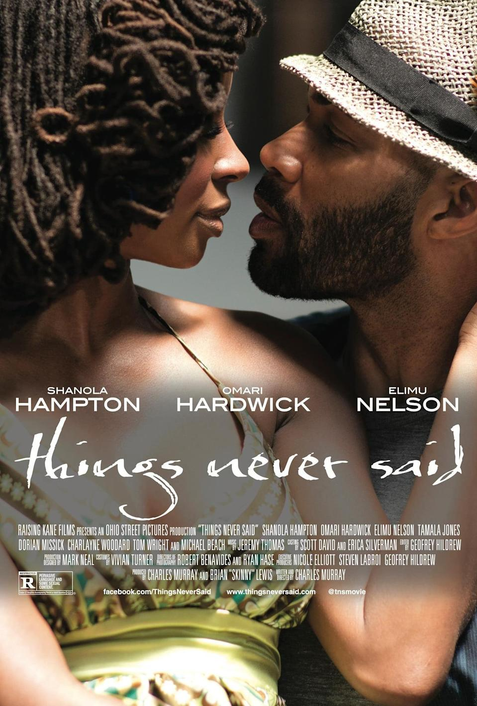 """<p>In this romantic drama, a poet who is lost, struggling, and in a troubled marriage develops a relationship with a man who helps her get her artistic voice back. This film is romantic, alluring, and totally tantalizing. </p> <p>Watch <a href=""""https://play.hbomax.com/page/urn:hbo:page:GXmAX8QLusjC3wwEAAClW:type:feature"""" class=""""link rapid-noclick-resp"""" rel=""""nofollow noopener"""" target=""""_blank"""" data-ylk=""""slk:Things Never Said""""> <strong>Things Never Said</strong></a> on HBO Max now.</p>"""